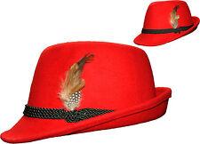 TRACHTENHUT für Damen Damenhut Hut Trachten rot Gaudi