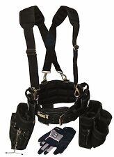 Gatorback Ultimate Electricians Package. Belt+Suspenders+Gloves+Drill Holster