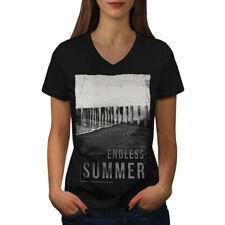 Endless Summer Holiday Women V-Neck T-shirt NEW | Wellcoda