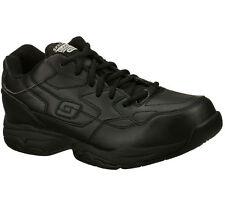 77032 Black Skechers Shoe Memory Foam Work Men Comfort Casual Slip Resistant New