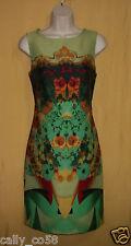 Julian Taylor women's lime green multi floral sleeveless dress top 4 8  $128