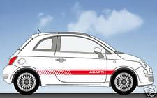 Fiat 500 Abarth stripes stickers decals