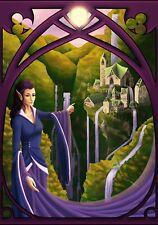 Fallenfantasyart Pagan magique ELFE FAIRY d&d fantasy lor Carte de vœux Tolkien