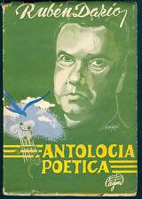 Ruben Dario Book Antologia Poetica 1° Ed Caymi 1956