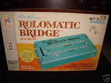 Vintage 1969 Milton Bradley Rolomatic Bridge Machine