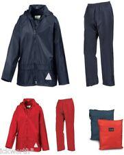 Childs Waterproof Jacket & Trousers Rain Suit Rainsuit Kids Childrens Boys Girls