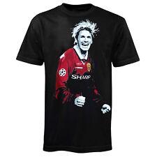 Football Soccer Legend David Beckham in Manchester United 1999 Kit T-Shirt Gift