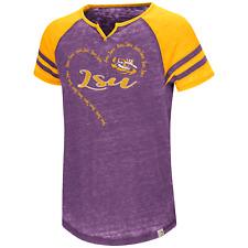 0ffab05be6abce LSU Tigers Girls Heart T-shirt Purple Free Shipping! Raglan