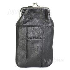 Women's Genuine Leather Cigarette Case and Lighter Holder
