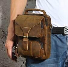 Original handmade Genuine leather men Messenger bag Satchel shoulder bag