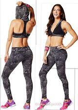 ZUMBA  FITNESS 2 PIECE SET! Tri-Me LEGGINGS & Oh my Hoodness BRA TOP Yoga RARE!!