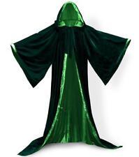 Velvet Hooded Cloak Gothic Vampire Wicca Robe Medieval Larp Cape Unisex Adult XL