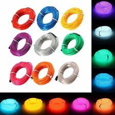10m EL LED Flexible Soft Tube Wire Neon Glow Car Rope Strip Light Xmas Decor