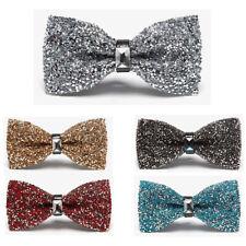 AU Shipping Men Luxury Sparkling Diamante Bowties Crystal Rhinestone Bow Ties