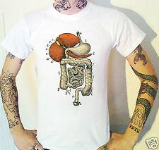 Victoriano órganos digestivos Camiseta Victoriana Steampunk Biología Anatomía Medicina
