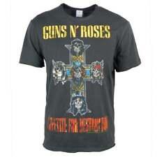Amplified Para hombre Guns N Roses Apetito para la destrucción Rock camiseta Carbón Axel