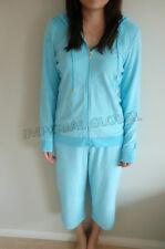 Unisex Soft Zipped Hooded Top Jacket and Pants Sports Set Housecoat Pajama Night