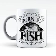 Born To Fish Carp Fishing Angling Hobbie Coffee Tea Cup Cafe Mug