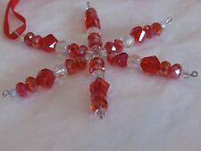 "Swarovski Crystal Snowflake / Star Ornament 4"" Your Choice of Color"
