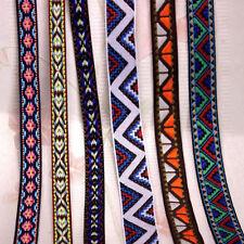 5/10 Yard Jacquard Ribbon Braid Trim Embroidery Flower Necklace Handcraft U Pick