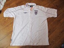 UMBRO ENGLAND Poloshirt Button White MENS 3 LIONS BNWT  S &  XXL POLYESTER