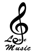 Musik Aufkleber Noten Aufkleber mit Schriftzug Music Aufkleber  214