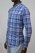 Ralph Lauren Navy And Blue Plaid Button Down Dress Shirt ~NWT~