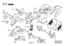 BOSCH Akku Rasenmäher ROTAK 43 LI original Bosch Ersatzteile Liste