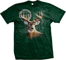 Deer Buck Antlers Nature Full Moon Animal Venison Hunt Majestic Go Men's T-Shirt