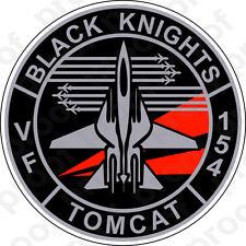 STICKER USN VF 154 Black Knights FIGHTER SQUADRON A
