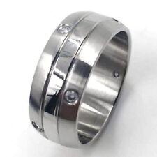 Edelstahl Ring Herren Damen Bandring Strass Partnerringe Gr. 66-72 21mm-23mm H95