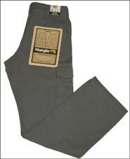 Bnwt Authentic Men's Wrangler Cargo Combat Summit Jeans Pewter Grey Comfort Fit