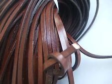 Marrón Oscuro 5mm plano real Tanga con Cadena de Cuerda de Cuero Genuino fabricación de joyas