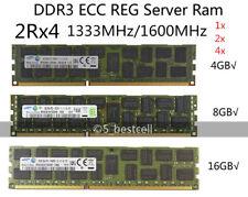 Samsung 4GB 8GB 16GB DDR3 1333MHz 1600MHz ECC REG Registered Server Memory lot