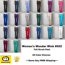Wonder Wink Wonder Work Women's TALL Scrub Pants Style 502 ~FREE SAME DAY SHIP~