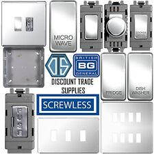 BG Screwless Flat Plate Custom Grid Plate Switch Components Polished Chrome FPC