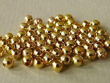 Zwischenperle Kugel Perle gold 2 / 3 / 4 / 5 mm Spacer Metall Auswahl 2419