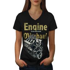 Car Mechanic Cool Vintage Women V-Neck T-shirt NEW | Wellcoda