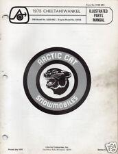 1975 ARCTIC CAT SNOWMOBILE CHEETAH WANKEL PARTS MANUAL