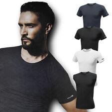 Set 3 T-Shirt Uomo HABER e COAST Cotone Elasticizzato Girogola e Vogatore DD