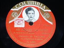 MEXICO 78 rpm RECORD Columbia CARMEN DE VERACRUZ Picture Label ME PEDIAS UN BESO