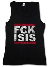 FUCK ISIS DAMEN TANK TOP FCK Run DMC Pro Islam Anti Terror Style Stop IS