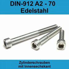 M3 DIN912 Zylinderschraube Innensechskant Kopf Schrauben A2 Edelstahl VA V2A M3x