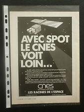 3/1986 PUB CNES SATELLITE SPOT ESPACE SPACE SPOT-IMAGE TELEDETECTION ORIGINAL AD