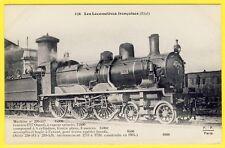 cpa LOCOMOTIVE à VAPEUR (Etat) pour TRAINS RAPIDES LOURDS Construite en 1904