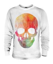 Aquarell Skull Unisex Pullover Top Geschenk Malen Farbe