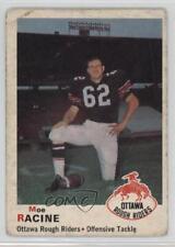 1970 O-Pee-Chee CFL 48 Moe Racine Ottawa Rough Riders (CFL) Rookie Football Card