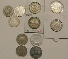 deutsche 1 Mark Münzen 1 Münze aus 1873-1994 1M 1DM DM M DDR RM Wahl ABCDEFGHJ