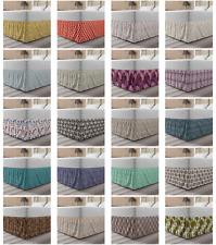 Ambesonne Vintage Motifs Bedskirt Elastic Wrap Around Skirt Gathered Design