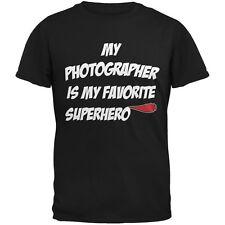 Photographer is My Superhero Black Adult T-Shirt